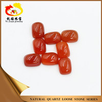 Precious rectangle natural chalcedony cabochon carnelian stone
