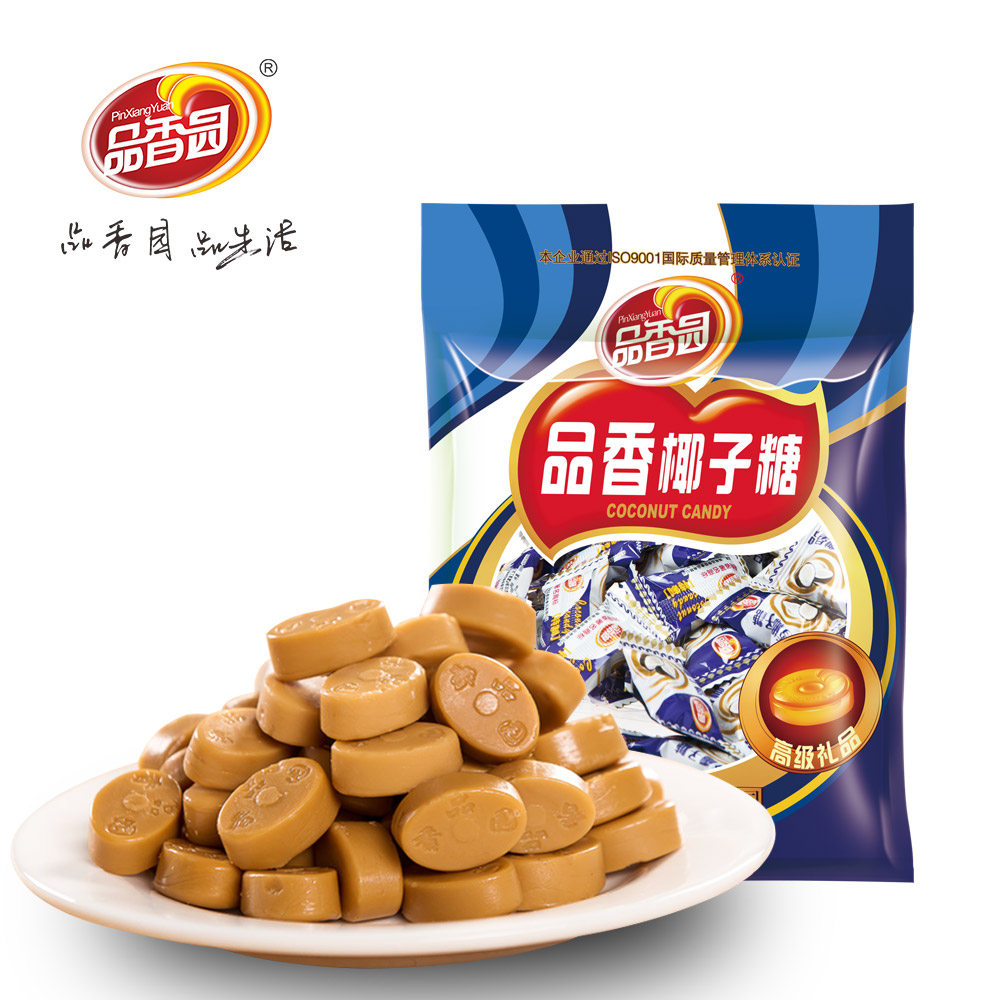 No color additive hard coconut candy