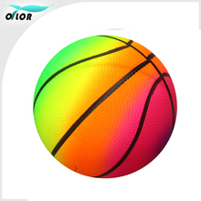 PVC Rainbow toy basketball for child play