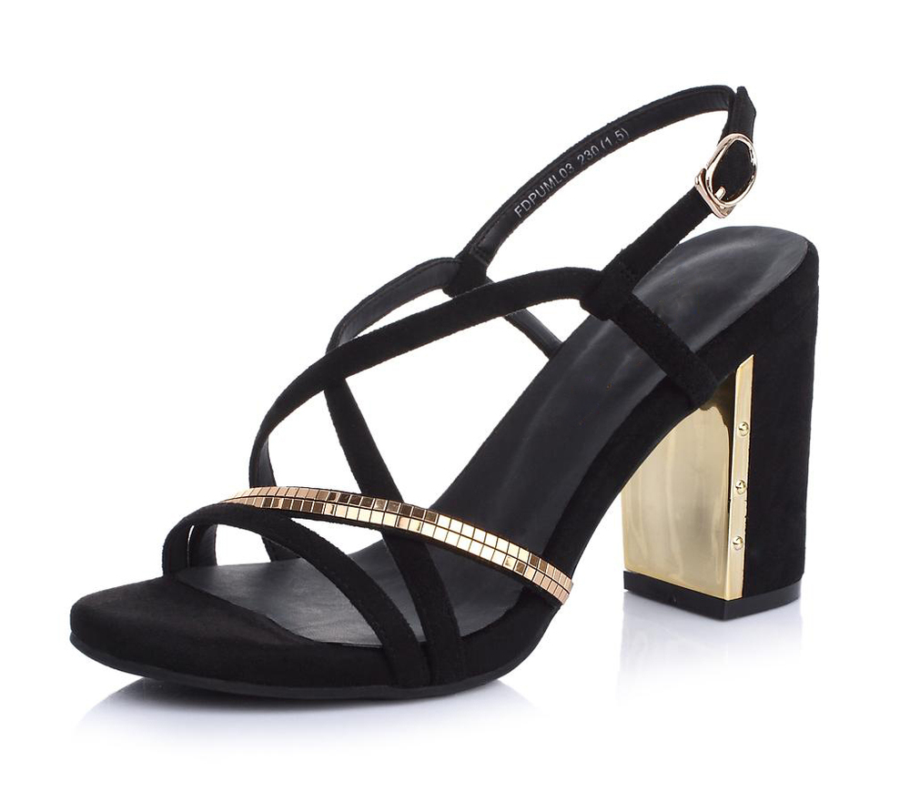 latest design women open toe chunky high heel shoe sandals