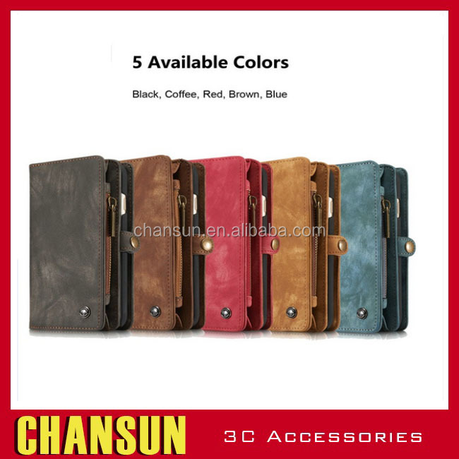 Cell phone case card holder wallet for iphone 6 genuine leather case