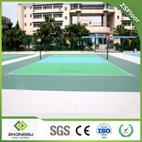 ZSFloor high quality used portable interlock sport court flooring