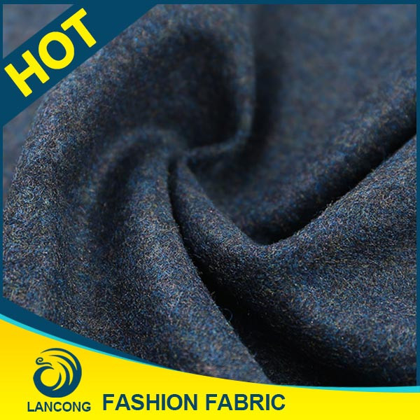 Shaoxing supplier for garment Elastane wool cashmere knit fabric
