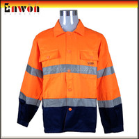 High quality winter workwear clothes work jacket reflective tape