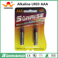 pro-environment top quality aaa lr03 am4 alkaline battery price of dry battery parts dry cell battery