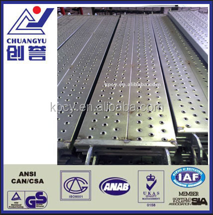 Scaffolding Perforated Steel Plank WIth Hook