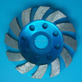 12 segments diamond grinding cup wheel for grinding concretes