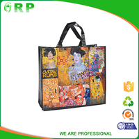 Custom promotional gift foldable recycled pp woven shopping bag