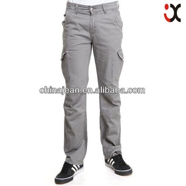 new arrival hot sale twill pants cheap cargo pants for men JX16000