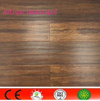 Antique grey solid strand woven bamboo flooring