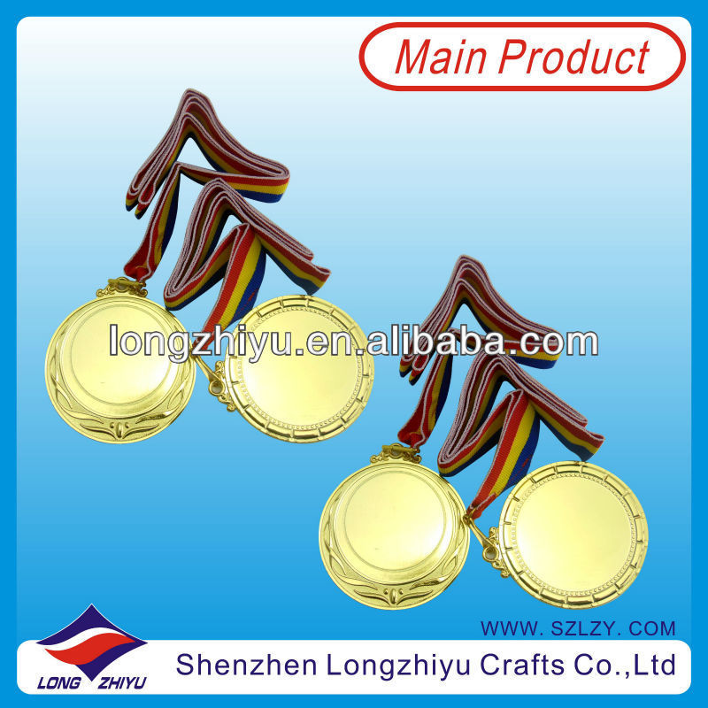 Promotional blank metal medal blanks