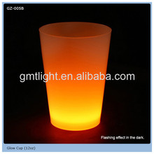 high quality water liquid activated led flash glass cup