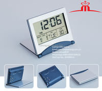 2017 Hot Selling Multifunction LCD digital travel clock weather station desktop table alarm clock/Promotional gift clock