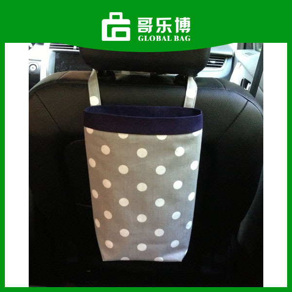 Waterproof Dots Cotton Fabric Car Litters Bag