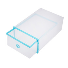 Waterproof foldable clear hard plastic shoe packaging box