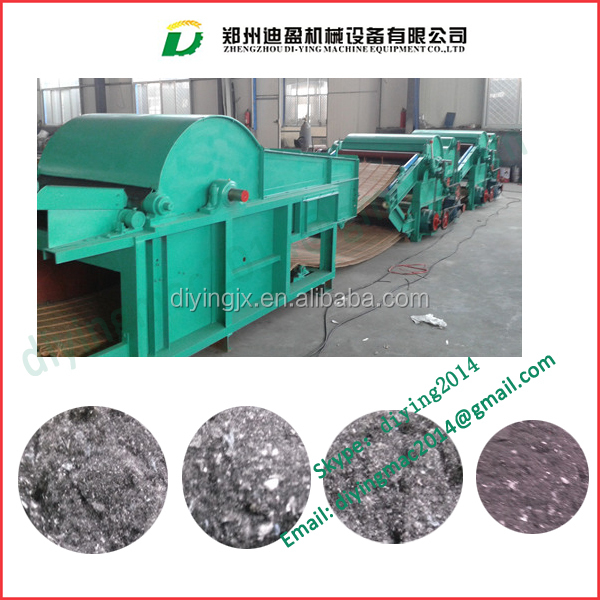contton fabric opener opening machine/ used waste textile cotton recycling machine/waste cloth recycling machine