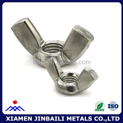 high quality 304 stainless steel carbon steel wing nuts fastener screw and nuts