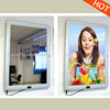 aluminum photo frames magic mirror Advertising display, sensor light box