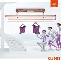 Telescopic Wall Mounted Clothes Drying Rack, rotating clothes hanger rack