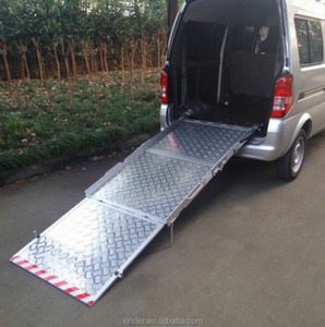 Manual Wheelchair loading Ramps for vans for the disabled with loading 350KG with CE certificate