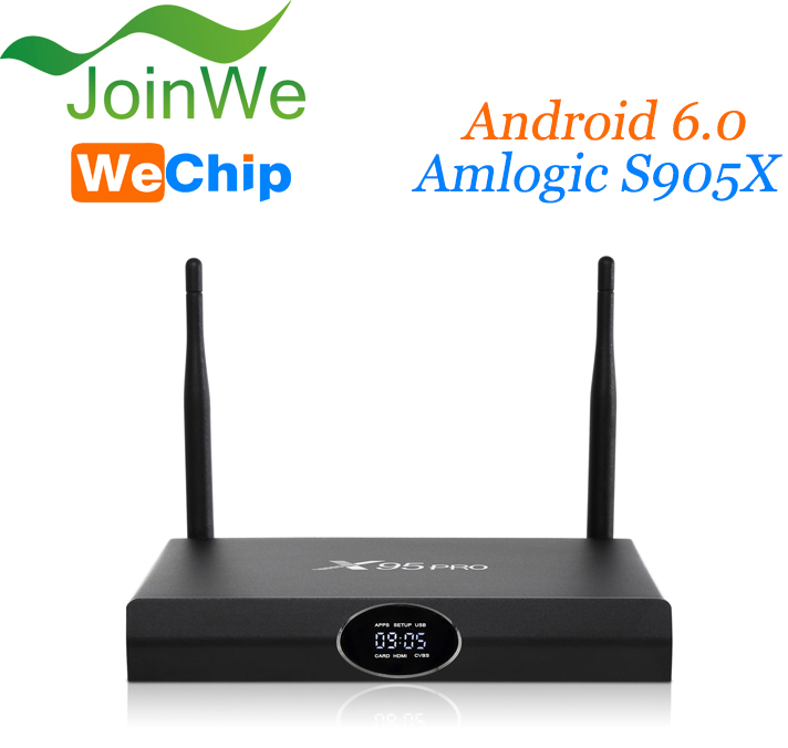Wechip X95 pro superior quality android 6.0 marshmallow tv box quad core Arabic iptv android tv box