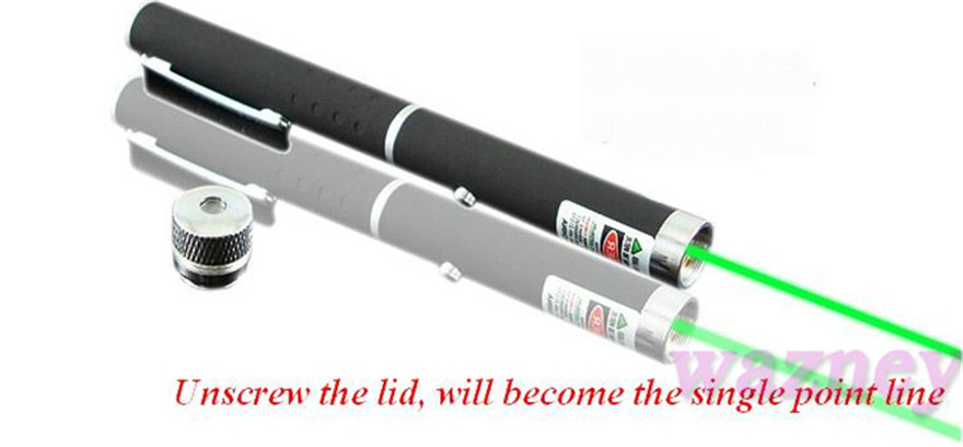 New 2 IN 1 5mW 532nm Powerful Green Red blue Laser Pointer Pen with Star Cap Stars green light flashlight