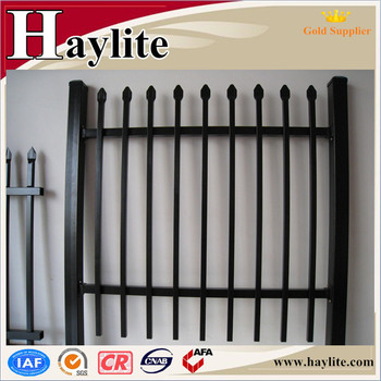 Metal picket fences used fencing panels