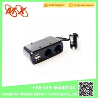 New Product 1-3 DC Car Cigarette Lighter Socket with Usb Port