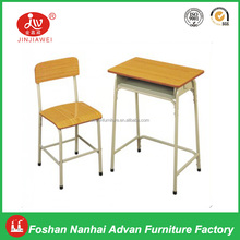 School Desk and Chair Specific Use and School Furniture Type kids single Wooden Table and Chair Set