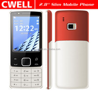 2.8 Inch TFT 320x240 Dual SIM Card front and back double camera Slim Keypad Mobile Phone
