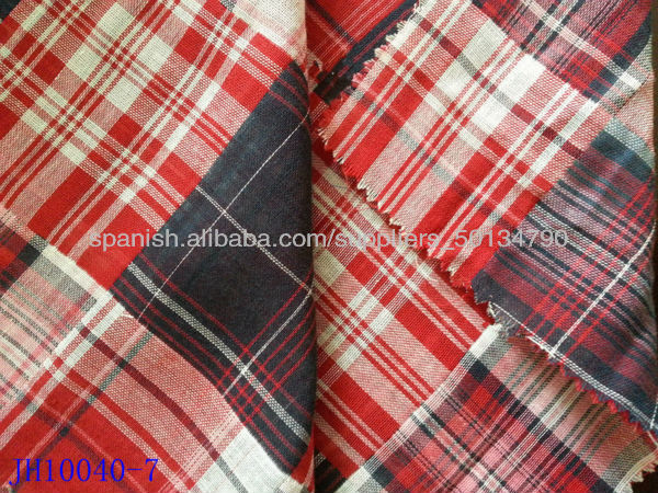 Red black white yarn dyed plaid double layer dubai dress fabric