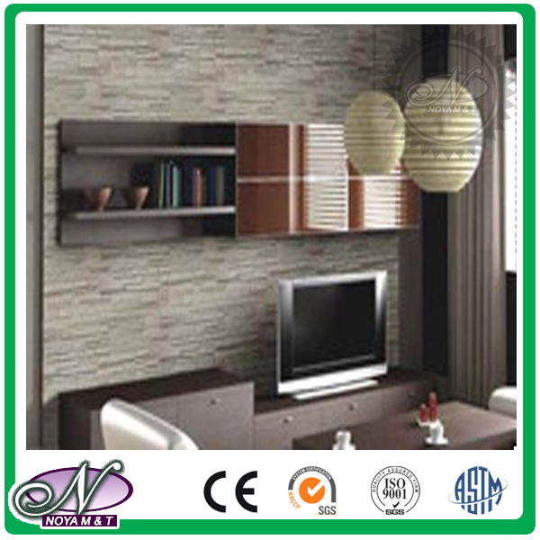PP plastic TV background faux culture stone wall panel for decoration