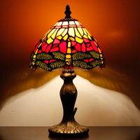 "S009R08T01, 8"" antique tiffany table lamp for bedroom with wholesale price"