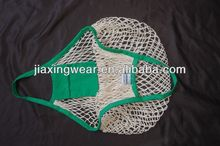Hot sales leno mesh bag with label for shopping and promotiom,good quality fast delivery