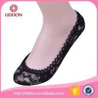 Wholesale mini cut lady sexy invisible women nylon lace socks for high heel shoes
