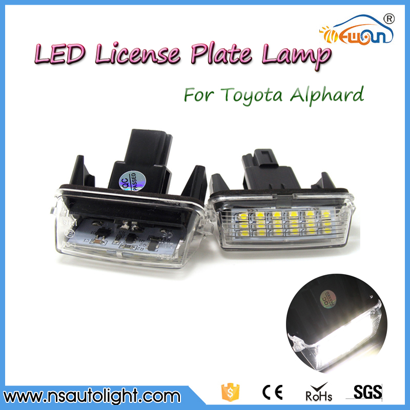 Flexible LED bulb 18 SMD design License plate lamp automotive light for Toyota yaris (2012~)/Camry (2013~)