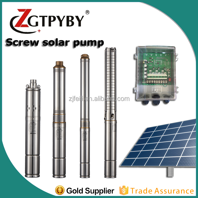 solar powered solar agricultural water pump bldc dc deep well solar submersible pump in Haiti