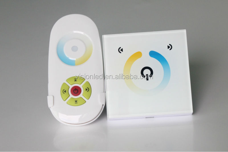 RF LED controller for warm white cool white led strips, 2 channel