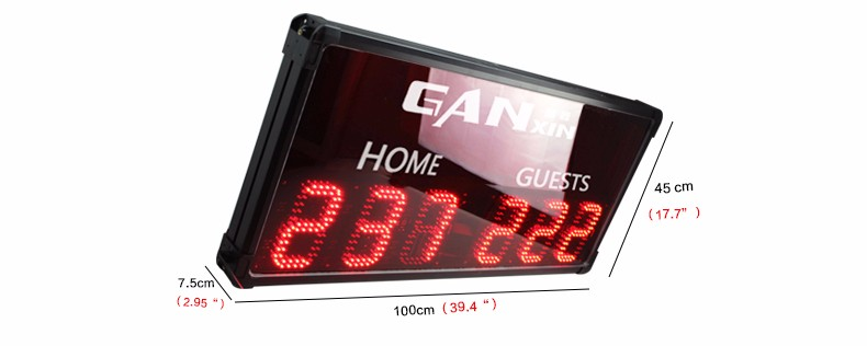 [GANXIN] Multifunctional electronic basketball scoreboard for wholesales basketball scoreboard with shot clock