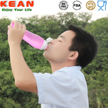 kean High quality 550ml silicone foldable bottle sports squeeze water bottle