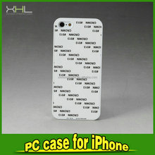 Heat transfer screen customized plastic phone case for iphone5s