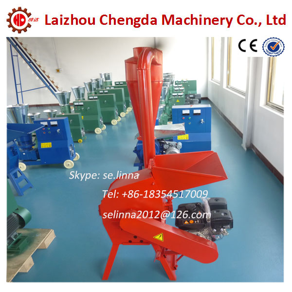 7.5hp CF198A gasoline engine hammer mill for wood chips/stalk/straw
