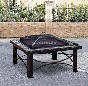 Fire Pit Table With natural slate