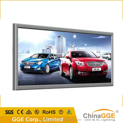 Large visual slim led backlit poster frame for outside advertising
