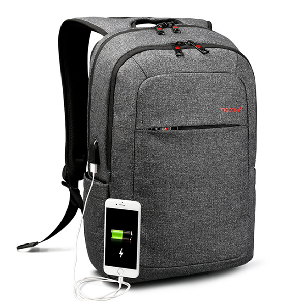 The new backpack bag computer bag fashion USB charging students bags