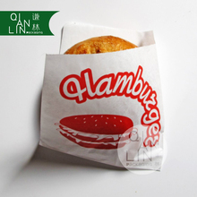 Double Open Kraft Take Away Paper Bag For Fast Food With Customized Logo Printing
