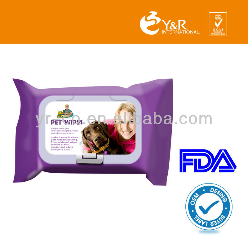 FDA Pet Bathing Wipes ,Pet Wet Wipes for Baby Pet