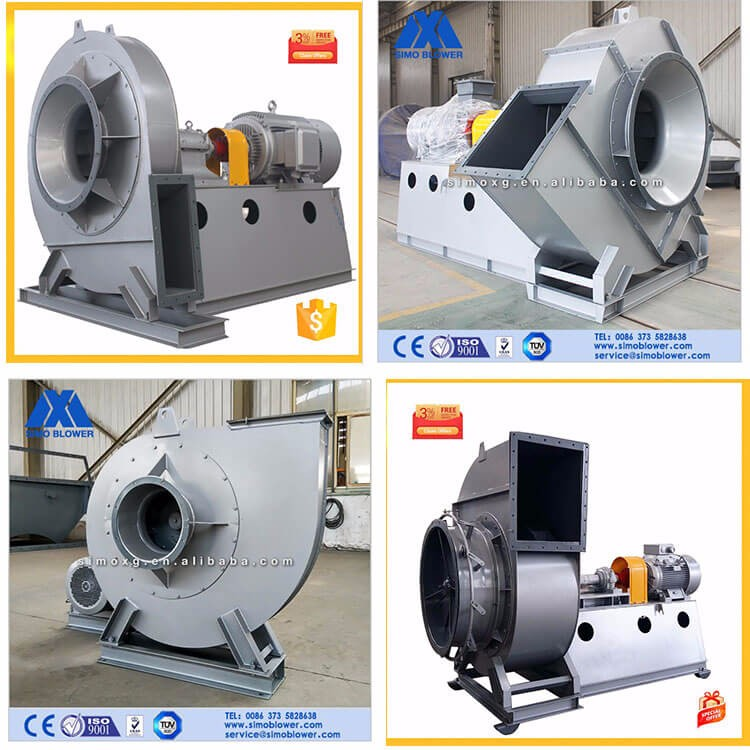 High power direct drive industrial smoke suction fan