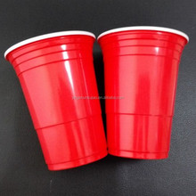 16oz PP red beer pong cup/cheap disposable plastic cups/party cup