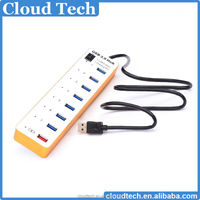 7 Ports +1 Charging Port Super Speed USB HUB with led light